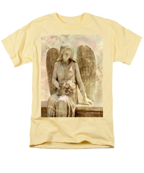 Cemetery Angel Statue Men's T-Shirt  (Regular Fit) by Randy Steele