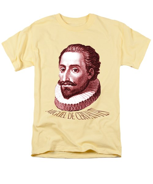 Men's T-Shirt  (Regular Fit) featuring the digital art Cervantes by Asok Mukhopadhyay