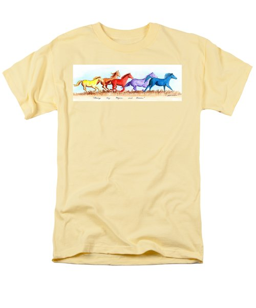Men's T-Shirt  (Regular Fit) featuring the painting Chasing My Hopes And Dreams by LeAnne Sowa