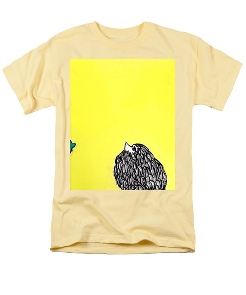 Men's T-Shirt  (Regular Fit) featuring the painting Chickens Four by Jason Tricktop Matthews