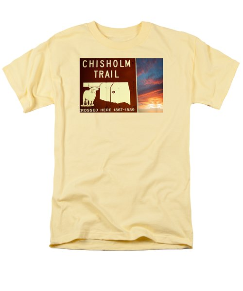 Men's T-Shirt  (Regular Fit) featuring the photograph Chisholm Trail Oklahoma by Bob Pardue