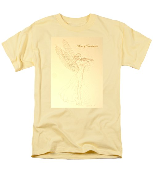 Christmas Angel With Violin Men's T-Shirt  (Regular Fit) by Deborah Dendler