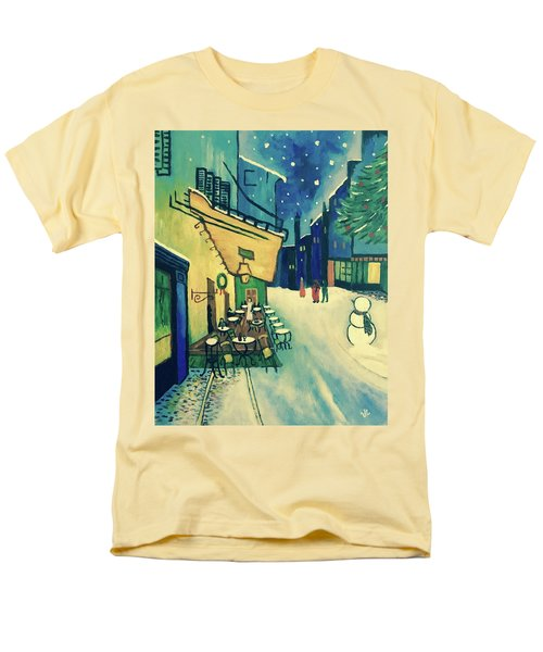 Men's T-Shirt  (Regular Fit) featuring the painting Christmas Homage To Vangogh by Victoria Lakes