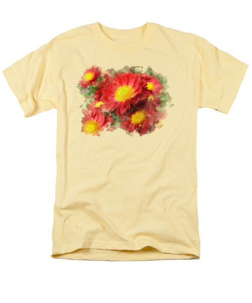 Chrysanthemum Watercolor Art Men's T-Shirt  (Regular Fit) by Christina Rollo