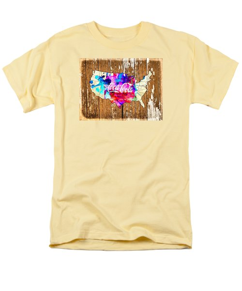 Coca Cola America Men's T-Shirt  (Regular Fit)