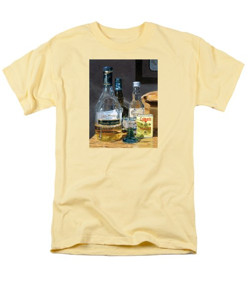 Men's T-Shirt  (Regular Fit) featuring the painting Cocktails And Mustard by Lynne Reichhart