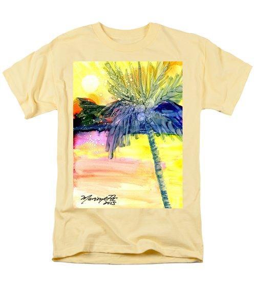 Coconut Palm Tree 3 Men's T-Shirt  (Regular Fit) by Marionette Taboniar