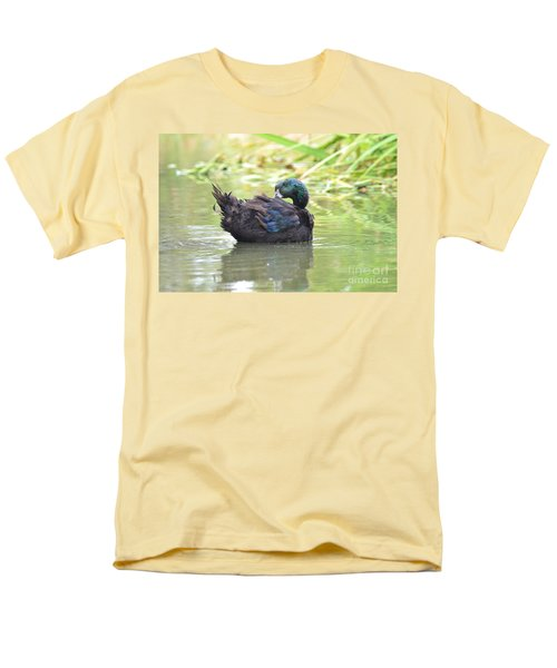 Colorful Duck Men's T-Shirt  (Regular Fit) by Laurianna Taylor