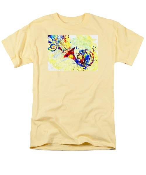 Colorful French Horn Men's T-Shirt  (Regular Fit) by Olga Hamilton