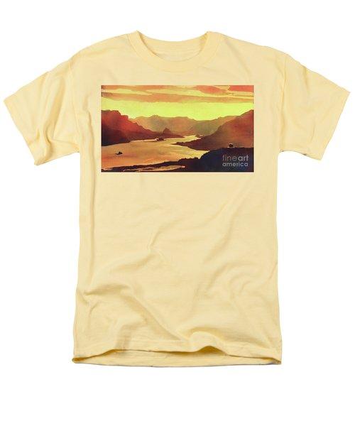 Columbia Gorge Scenery Men's T-Shirt  (Regular Fit) by Ryan Fox