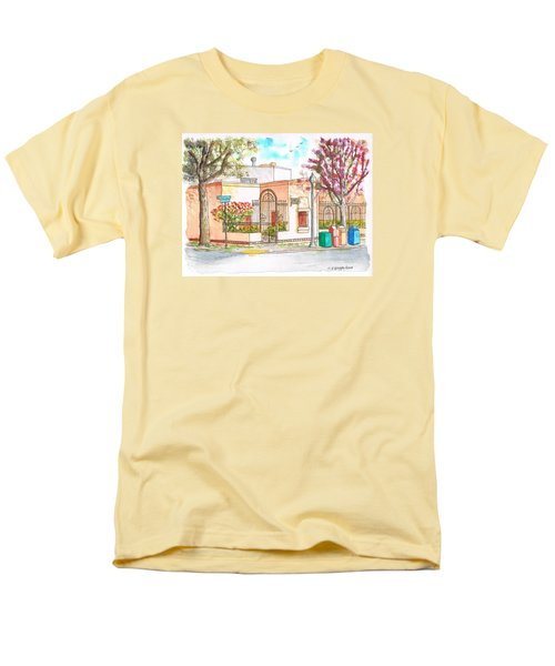 Corner With Bougainvillas In San Luis Obispo, California Men's T-Shirt  (Regular Fit) by Carlos G Groppa