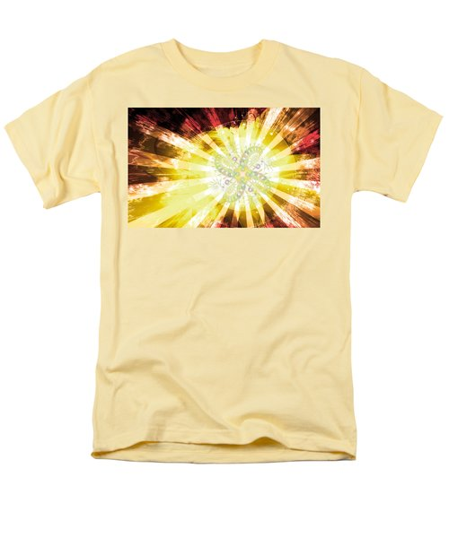 Cosmic Solar Flower Fern Flare 2 Men's T-Shirt  (Regular Fit) by Shawn Dall