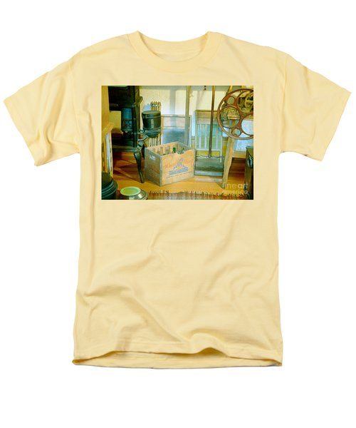 Men's T-Shirt  (Regular Fit) featuring the painting Country Kitchen Sunshine II by RC deWinter