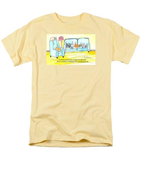 Crazy Cat Lady 0004 Men's T-Shirt  (Regular Fit)