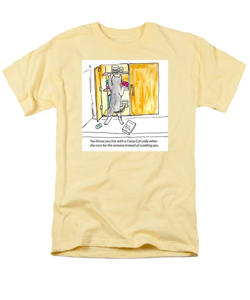 Crazy Cat Lady 001 Men's T-Shirt  (Regular Fit) by Lou Belcher