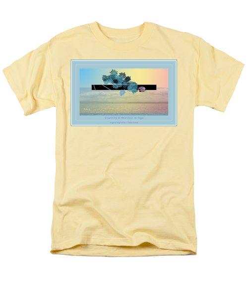 Creativity And Awareness In Yoga Men's T-Shirt  (Regular Fit) by Felipe Adan Lerma