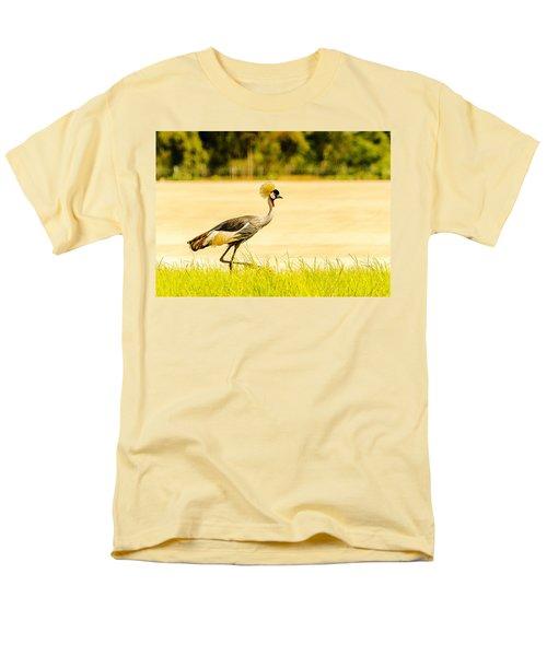 Crested Crane Men's T-Shirt  (Regular Fit) by Patrick Kain