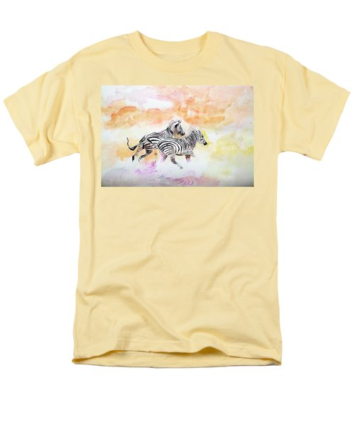 Crossing The River. Men's T-Shirt  (Regular Fit) by Khalid Saeed