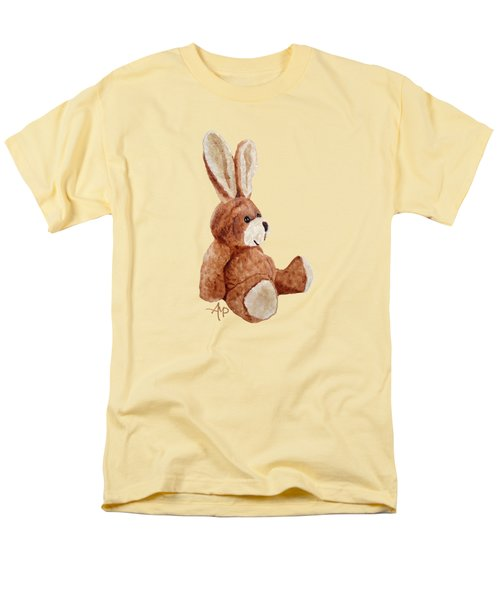Cuddly Rabbit Men's T-Shirt  (Regular Fit) by Angeles M Pomata