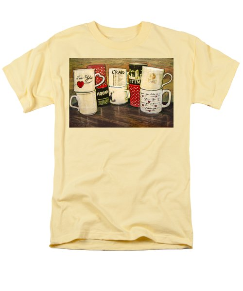 Cups Of Memory Men's T-Shirt  (Regular Fit) by Ron Richard Baviello