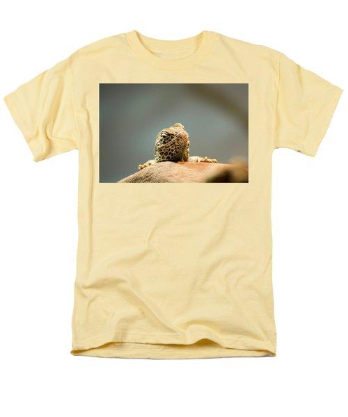 Curious Lizard Men's T-Shirt  (Regular Fit) by David Stasiak