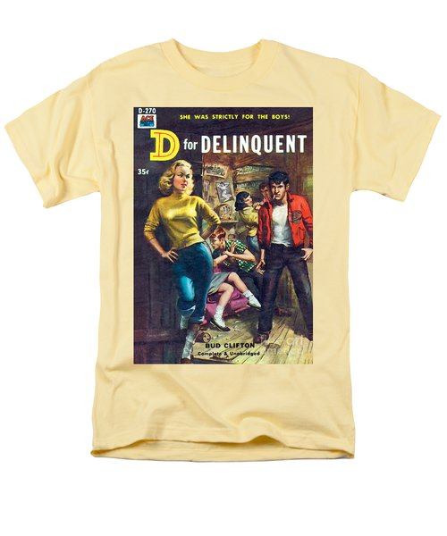 D For Delinquent Men's T-Shirt  (Regular Fit) by Rudy Nappi