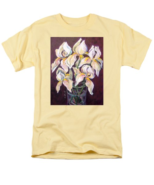 Men's T-Shirt  (Regular Fit) featuring the painting Dancing Iris by Laura Aceto