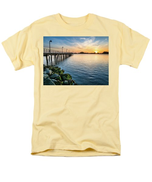 Men's T-Shirt  (Regular Fit) featuring the photograph Del Norte Pier And Spring Sunset by Greg Nyquist