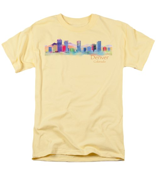 Denver Colorado Skyline Tshirts And Accessories Men's T-Shirt  (Regular Fit) by Loretta Luglio