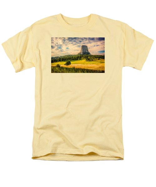 Men's T-Shirt  (Regular Fit) featuring the photograph Devil's Tower - The Other Side by Rikk Flohr