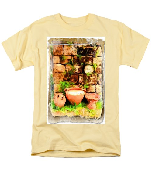 Men's T-Shirt  (Regular Fit) featuring the photograph Do-00348 Jars In Byblos by Digital Oil