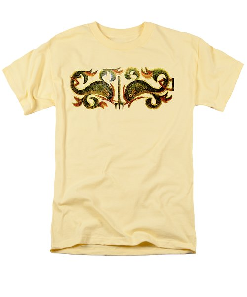 Men's T-Shirt  (Regular Fit) featuring the digital art Dolphins Of Pompeii by Asok Mukhopadhyay
