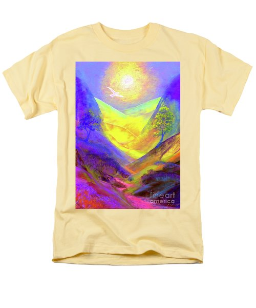 Men's T-Shirt  (Regular Fit) featuring the painting Dove Valley by Jane Small