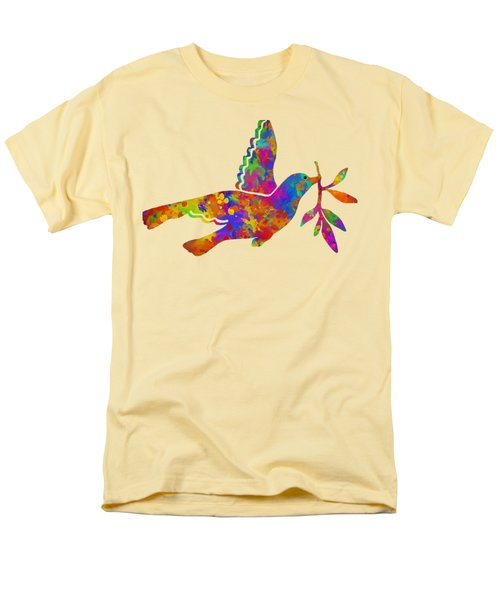 Dove With Olive Branch Men's T-Shirt  (Regular Fit) by Christina Rollo