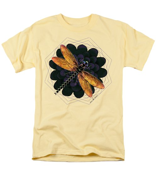 Men's T-Shirt  (Regular Fit) featuring the digital art Dragonfly Snookum by Iowan Stone-Flowers