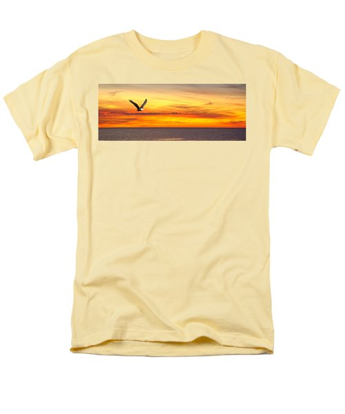 Eagle Panorama Sunset Men's T-Shirt  (Regular Fit) by Randall Branham