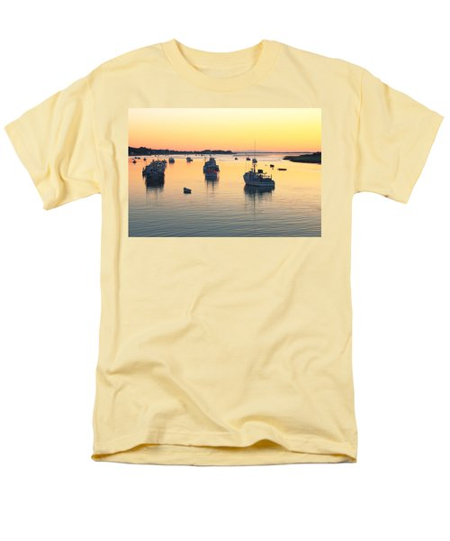 Men's T-Shirt  (Regular Fit) featuring the photograph Early Morning In Chatham Harbor by Roupen  Baker