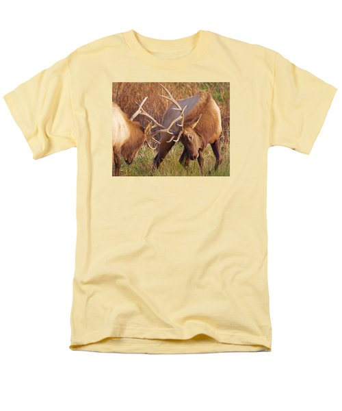 Elk Tussle Men's T-Shirt  (Regular Fit) by Todd Kreuter