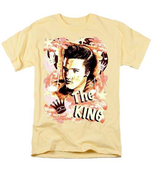 Elvis The King In Salmon Red Men's T-Shirt  (Regular Fit) by Gitta Glaeser