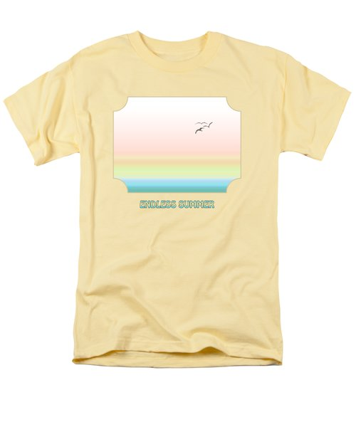 Endless Summer - Yellow Men's T-Shirt  (Regular Fit) by Gill Billington