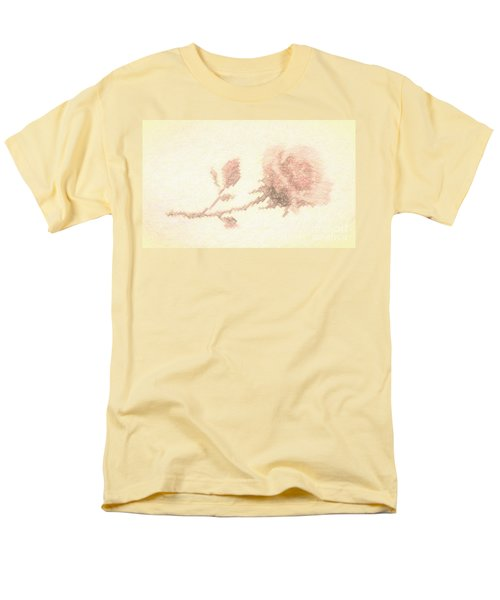 Men's T-Shirt  (Regular Fit) featuring the photograph Etched Red Rose by Linda Phelps