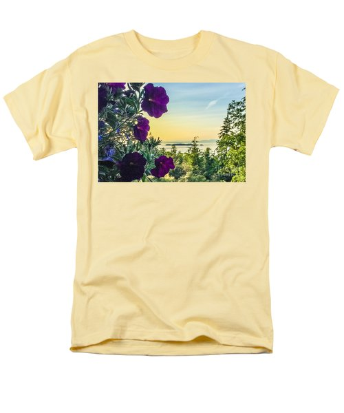 Men's T-Shirt  (Regular Fit) featuring the photograph Evening Light On Orcas Island by William Wyckoff