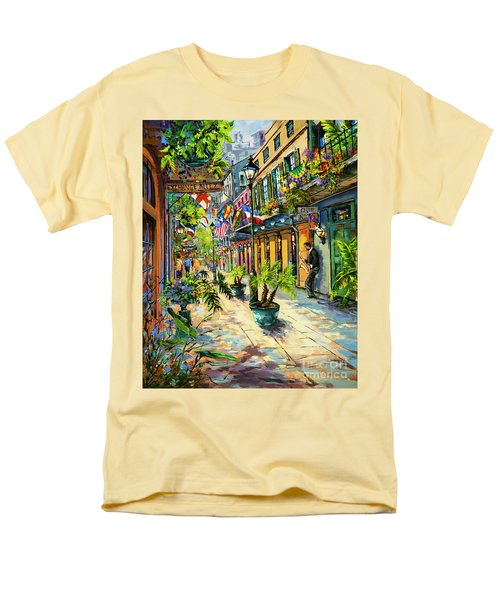 Men's T-Shirt  (Regular Fit) featuring the painting Exchange Alley by Dianne Parks