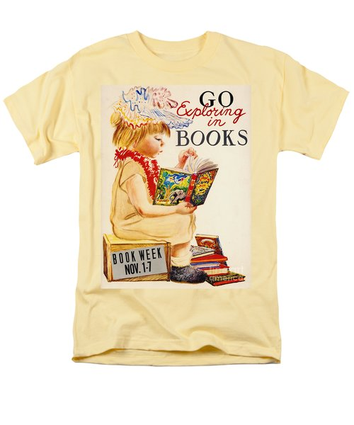 Men's T-Shirt  (Regular Fit) featuring the photograph Exploring Books 1961 by Padre Art