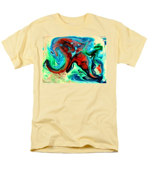 Men's T-Shirt  (Regular Fit) featuring the painting Face To Face by Joyce Dickens