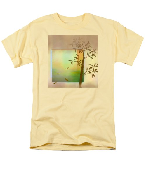 Men's T-Shirt  (Regular Fit) featuring the digital art Falling Leaves by Nina Bradica