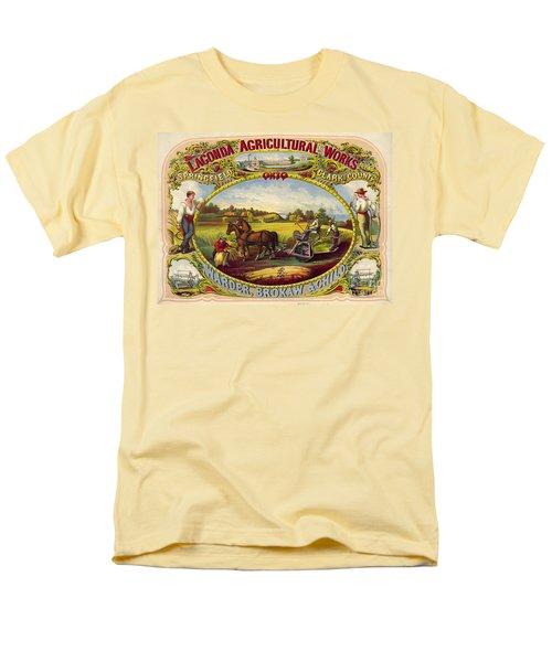 Farm Tools Ad 1859 Men's T-Shirt  (Regular Fit) by Padre Art