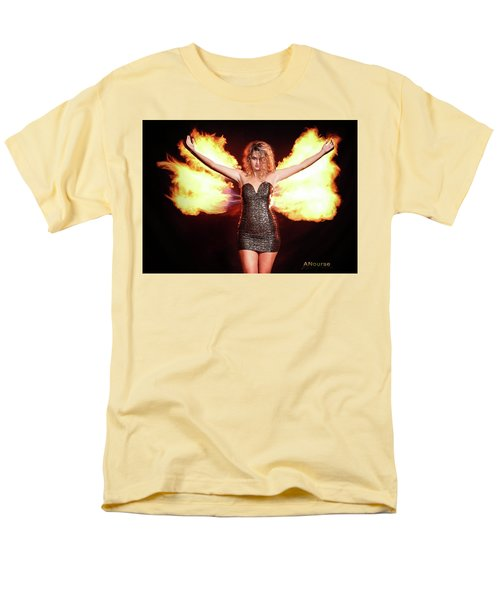 Fire Wings Men's T-Shirt  (Regular Fit) by Andrew Nourse