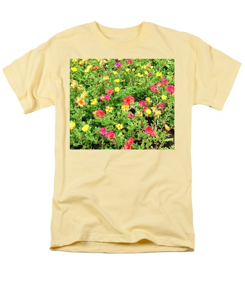 Flower Garden Men's T-Shirt  (Regular Fit) by Karen Nicholson