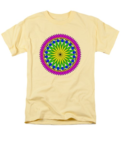 Men's T-Shirt  (Regular Fit) featuring the digital art Flower Mandala By Kaye Menner by Kaye Menner